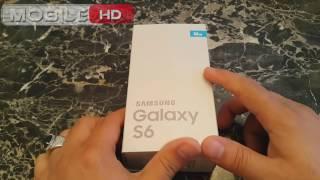 فتح علبة سامسونج جلاكسي اس 6 ازرق توباز  SAMSUNG GALAXY S6