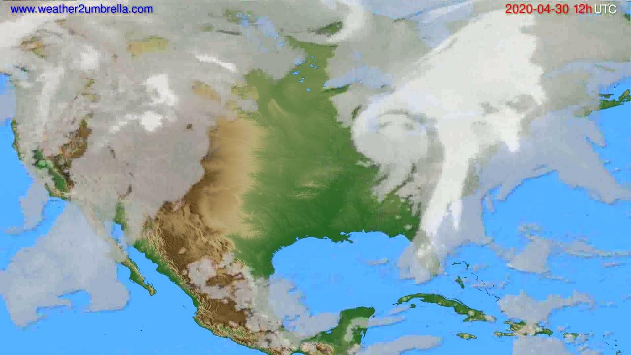 Cloud forecast USA & Canada // modelrun: 00h UTC 2020-04-30