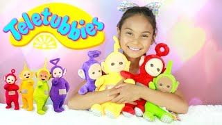 New Teletubbies Toys For Children, Toddlers and Babies cartoons for kids.Teletubbies stars iconic characters Tinky Winky, Dipsy, Laa-Laa and Po. Their world is full of love and laughter as they explore Home Dome and the magical countryside of Teletubbyland through play and with the help of their touch screen tummies.Familiar and beloved features from the original series return – The Noo-noo, Tubby Custard, Tubby Toast, Baby Sun, rabbits and the Voice Trumpets – along with some brand new surprises.Thank You Teletubbbies for sponsoring this video.Hi!! Welcome to my channel, my name is Tiana (TT). Mommy and I make videos on stuff that we love and enjoying doing. Here you will find DIY's, toy reviews, vlogs, playing with toys etc..This Channel is family and kid friendly :) Please don't forget to subscribe so you'll know when a new video is posted. If you have any video suggestions let me know :) Thank you for your support  xoxox Tiana & Mommy HeartsToy in other Languages: खिलौने, brinquedos, ของเล่น, اللعب, igračke, đồ chơi, oyuncaklar, leksaker, juguetes, играчке, игрушки, jucării, тоглоом, leker, اسباب بازی, zabawki, 장난감, トイズ, giocattoli, mainan, játékok, צעצועים, Hračky, legetøj, speelgoed, laruan, jouets, Spielzeug, ΠαιχνίδιαMusic is Royalty Free : https://www.audioblocks.com/stock-audio/kids-having-fun.htmlhttp://www.bensound.com/royalty-free-musicKlonkey DonkeyThe Happy SongCuriousArtist: Nicolai Heidlas