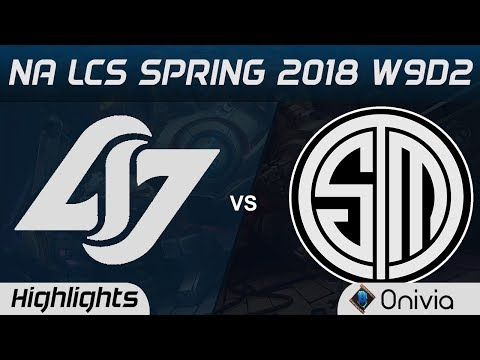 CLG vs TSM Highlights NA LCS Spring 2018 W9D2 Counter Logic Gaming vs Team Solo Mid by Onivia (видео)
