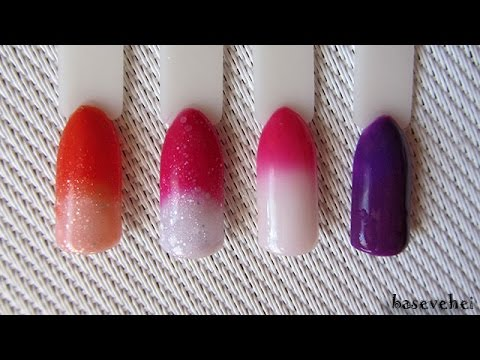 Swatches: Madam Glam - Color Change Gel Polish - Summertime, Love on Top,  Love me crazy, Heaven