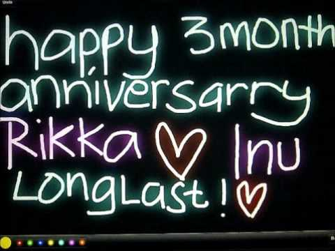 Happy Anniversary 3 Month Inu & Ika