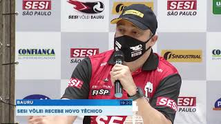 Volêi Sesi Bauru apresenta novo técnico