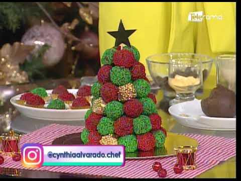 Aprenda a realizar un árbol navideño a base de brigadeiros