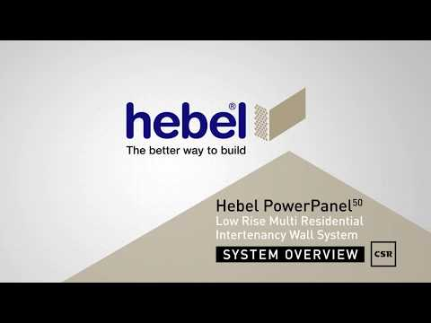 Hebel PowerPanel50 Low Rise Multi residential Intertenancy/Party Wall System Overview