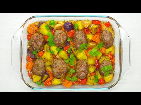 фарш и овощи что приготовить в духовке