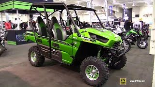 10. 2015 Kawasaki Teryx4 800 LE - Exterior and Interior Walkaround - 2014 Toronto ATV Show