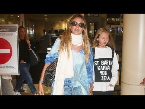 Heidi Klum And Her Kiddies Return To LA Following St. Barts Vacation