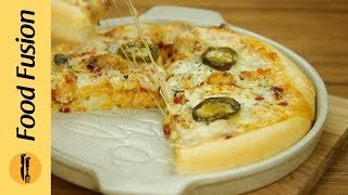 Perfect Pizza without oven is now possible. Learn how to make pizza without oven with this complete recipe with Dough, Pizza Sauce and Chicken Tikka Topping,...