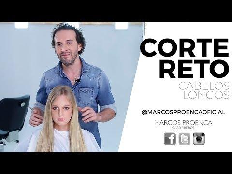 Corte de cabelo - Corte reto para cabelos longos
