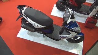 7. KYMCO Super 8 50 2T (2015) Exterior and Interior in 3D