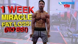 ★ How Can You Lose The MAXIMUM Amount of Stubborn Belly Fat in Just 1 Week? Here is the SCIENTIFIC Breakdown in 3 Easy Steps!★ Master Shredder 24 Hour Fat Loss + Aesthetics Builder -http://www.AlphaLion.Com/Master-Shredder★ Science Of Abs 8 Week Program (Get Epic Six Pack Sculpting + Fat Loss Results Using the Pre Fatigue Phenomenon that Pro Athletes and Ripped Movie Stars Use)★ http://www.AlphaLion.Com/Science-Of-Abs★ SUPERHUMAN Fat Loss CHEAT-SHEET (Your FREE No Strings Attached Gift!)How To Lose the MAXIMUM Amount of Belly Fat in 1 Week BLUEPRINT:I know the title of this video looks like clickbait - but losing fat fast seems to be the most common question I get these days. Getting rid of stubborn belly fat takes a scientific approach, and I thought it would be really important to show you the EXACT Steps you need to take to lose that stubborn belly fat fast!How much Belly Fat Can You Lose in 1 week? ONLY ONE WAY TO FIND OUT!If you have a fair amount of fat to lose and want to get to 6-8% body fat you can also follow this shredding and cutting diet plan for longer periods of time (Up to 6 weeks!)The best cutting diet plan and fat loss tip in the world is to have at least 1 long stretch of LOW INSULIN while your metabolism is in a heightened state.Whether you follow intermittent fasting, Keto, or any other diet approach - this is going to be the blueprint on how you can lose weight fast!I really hope you guys enjoy this video as I worked really hard to produce it and wanted to give you the exact Science behind fat loss transformations!How to Lose the MAXIMUM Amount of BELLY FAT in 1 WEEK!  3 SCIENTIFIC Steps = No More BELLY PUDGE!https://youtu.be/yopR4oPY0Pk