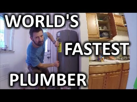 HOW TO REPLACE A HOT WATER HEATER IN 30 MIN   THE HANDYMAN