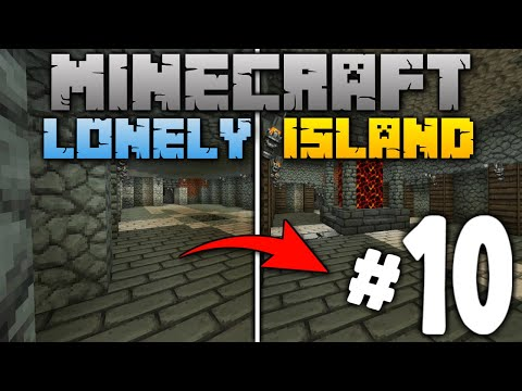 PLAYING WITH LAVA!!! (GONE WRONG): Minecraft Lonely Island (Survival Series) Lets Play Episode 10