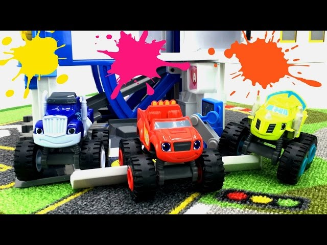 ВСПЫШ (BLAZE) и Чудо-Машинки: Техосмотр Крушилы! Игры для мальчиков