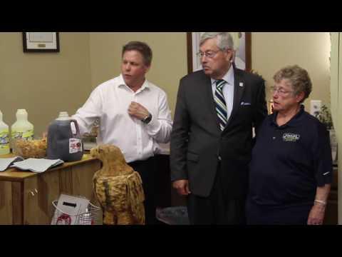 Gov. Branstad visits Rudd