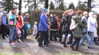 Clips from The Rosary Procession, Knock Marian Shrine, Mayo, Ireland during the Pro-Life Prayer Vigil on 4th May 2013.PLEASE BE AWARE AT THE BEGINNING OF THE THE VIDEO THE WIND IS BLOWING THROUGH THE MICROPHONE AND IS QUITE NOISY, SO DO NOT HAVE YOUR VOLUME TURNED UP FULL.