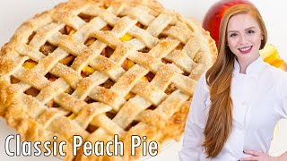 Classic Peach Pie with Cinnamon Crumble