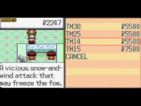 Pokémon Sapphire :: How to get TM14 (Blizzard)