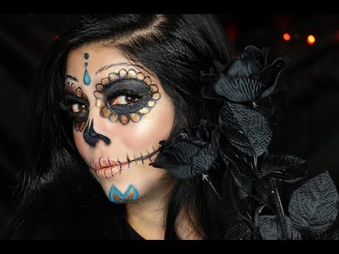 DIA DE LOS MUERTOS DAY OF THE DEAD MAKEUP TUTORIAL + CA LOTTERY CONTEST!