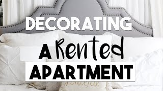 INTERIOR DESIGN: Tips for DECORATING a RENTED APARTMENT!