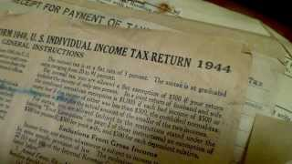 FORM 1040 Instructions 4 pages in 1944 ; IRS tax forms