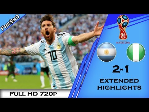 Argentina Vs Nigeria 2-1 2018 Highlights (Russia FIFA World Cup) English Commentary