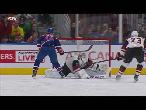 Video: Smith makes great glove save to keep Eberle from scoring