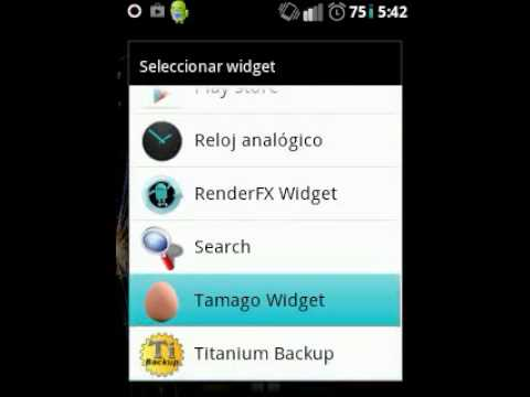 Video of Tamago Widget