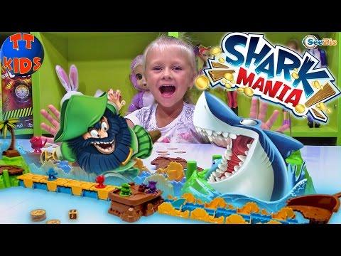 Игрушки для детей - Игра Акула Shark Mania - Играем с Ярославой Видео для детей Games for children (видео)