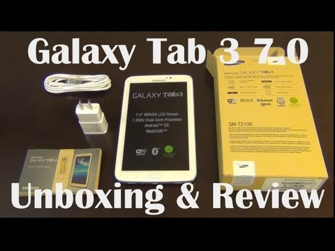 Samsung Galaxy Tab 3 7.0: Unboxing and Review