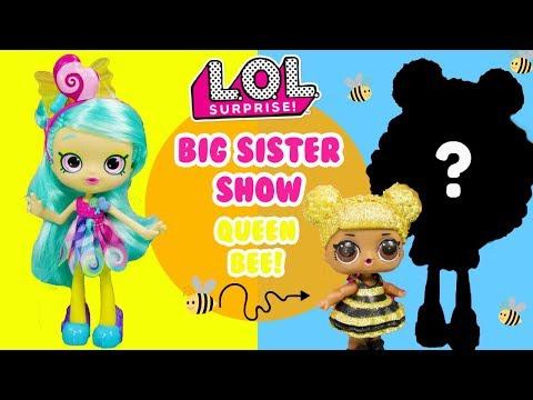LOL SURPRISE Big Sister Show DIY Queen Bee Big Sister Makeover