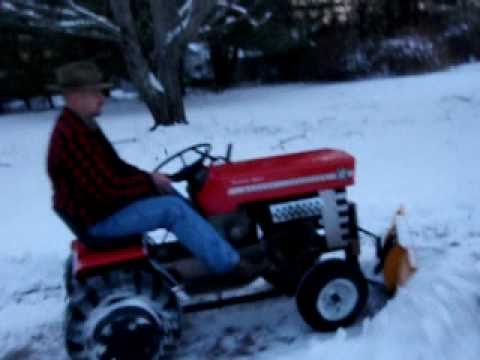 Plowing to the wood-pile - Massey Ferguson 12 (Jan 9th 2011)