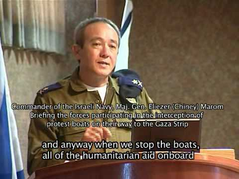 Israeli Navy Commander Vice Admiral Eliezer Marom Briefs Forces Set to Intercept Gaza Flotilla