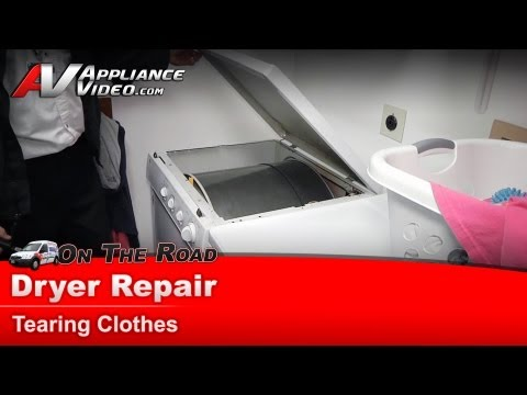 GE Dryer Repair – Tearing clothes – DSX443EA0WW