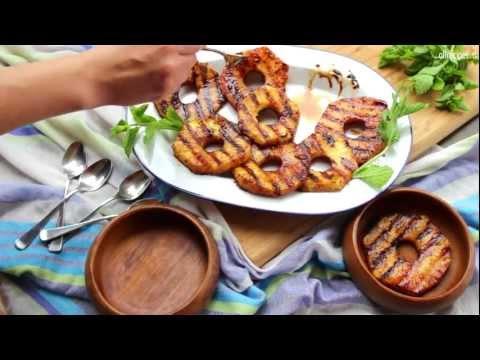 Ananas alla griglia con spezie e rum