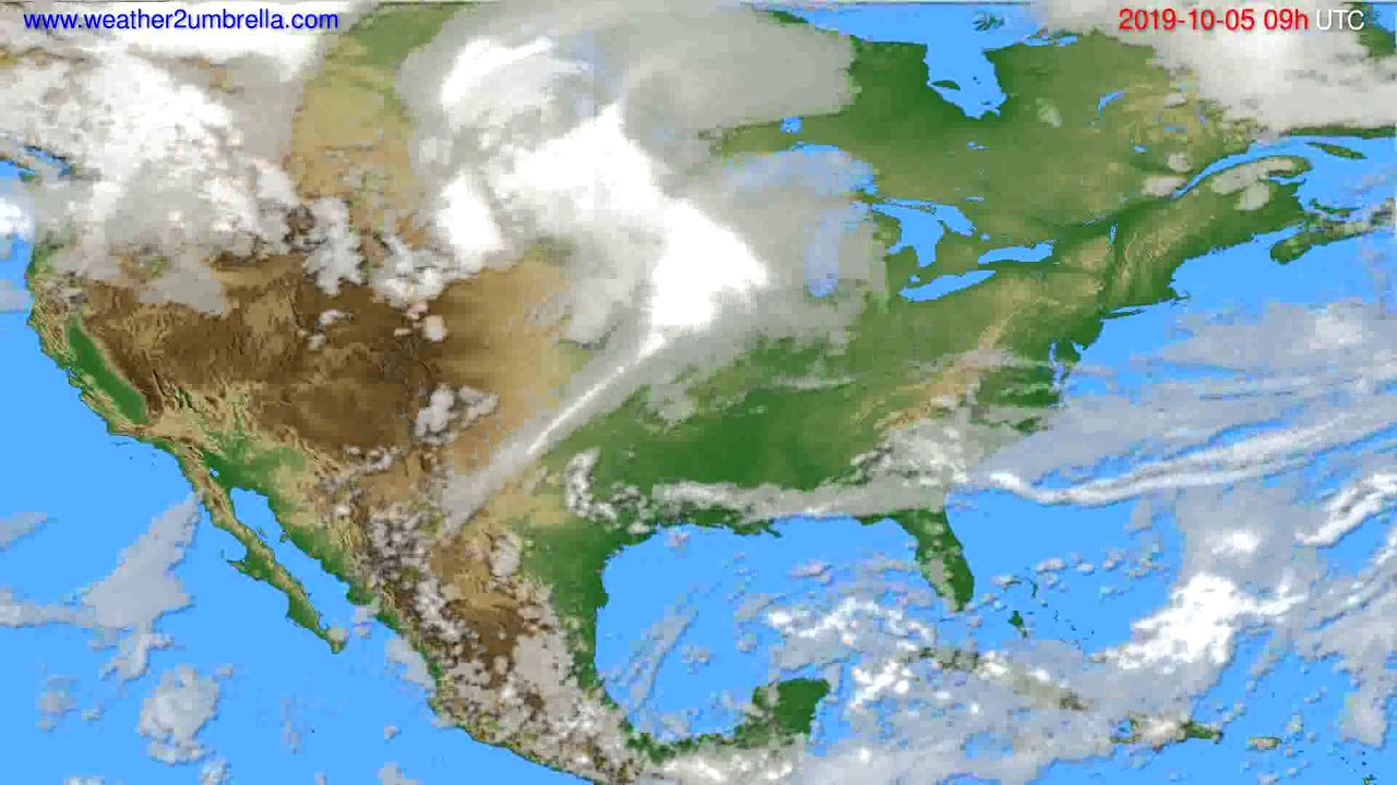 Cloud forecast USA & Canada // modelrun: 12h UTC 2019-10-03