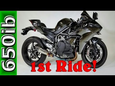 2016 Kawasaki Ninja H2 | 1st ride with mods & SMACKDOWN!!!