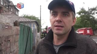 В Мариуполе сгорел заброшенный дом