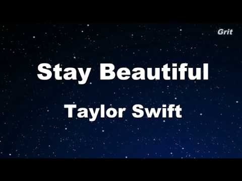 Stay Beautiful - Taylor Swift Karaoke【No Guide Melody】