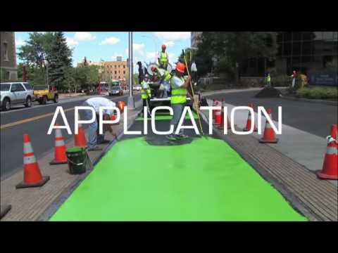 Color Safe® Pavement Surface Marking for Bike Paths www transpo com   YouTube