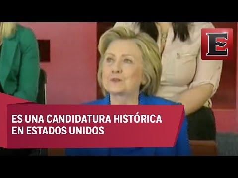 Partido Demócrata elige a Hillary Clinton como candidata