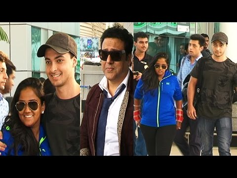 Newly weds Arpita and Aayush return to Mumbai