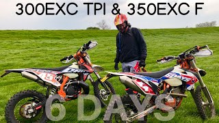 7. 2019 KTM 300 EXC TPI & 2016 KTM 350 EXC F, Riding with my mate Phil who had a slight mishap!