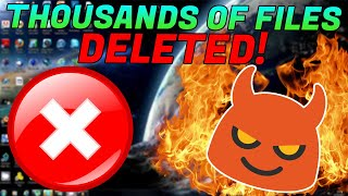 Video SCAMMER RAGES WHEN I DELETE THOUSANDS OF HIS FILES! MP3, 3GP, MP4, WEBM, AVI, FLV Juli 2019