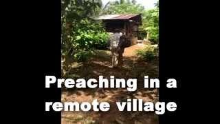Preaching in a remote village – Life Builders International