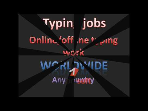south africa  typing jobs