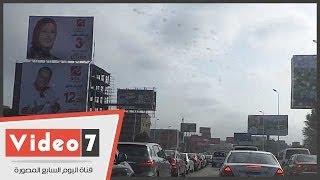 بالفيديو.. شلل مرورى وتكدس للسيارات على محور 26 يوليو