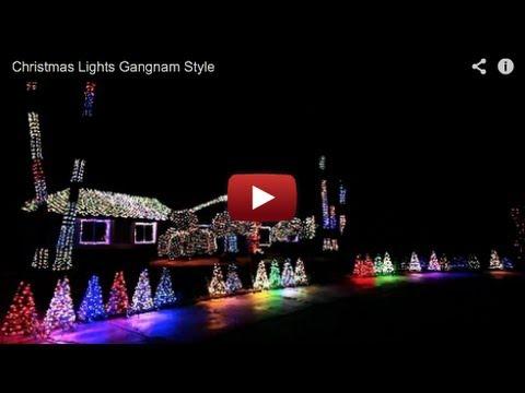 Christmas Lights Gangnam Style
