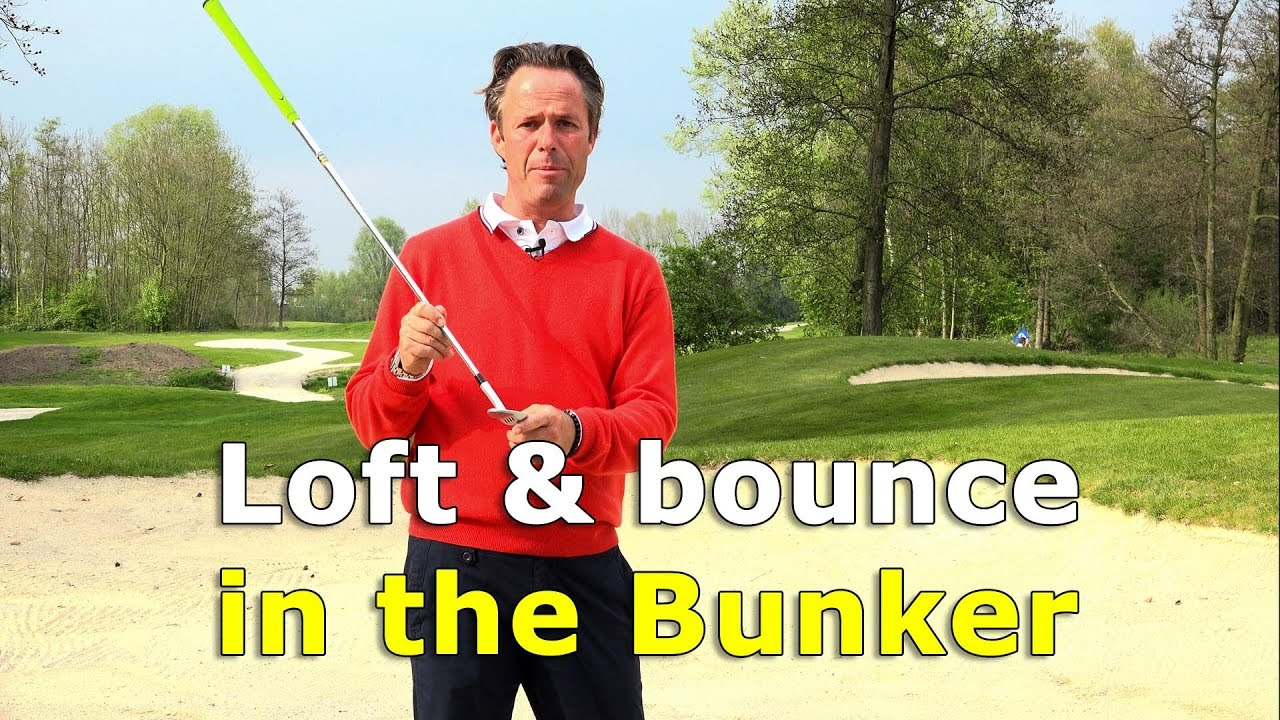 How to use loft and bounce in a bunker shot